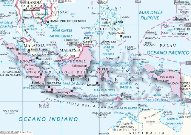 Cartina Dell Indonesia.Mappa Indonesia Cartina Dell Indonesia