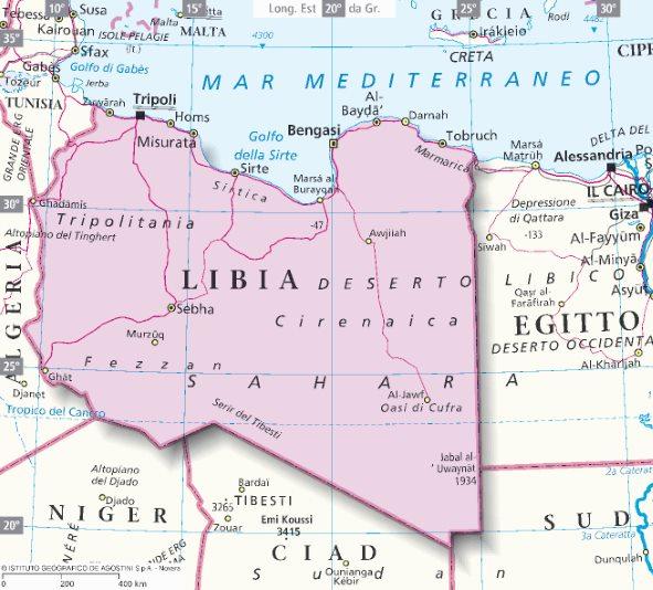 Cartina della libia my blog for Mappa della costruzione di casa
