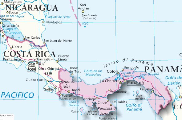 Mappa Panama - Cartina di Panama