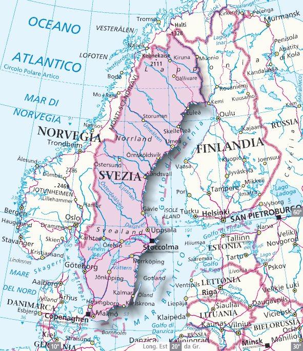 Cartina Della Svezia.Il Grande Nord Lessons Tes Teach