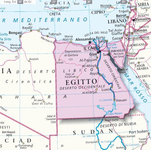 Cartina Del Egitto.Mappa Egitto Cartina Dell Egitto