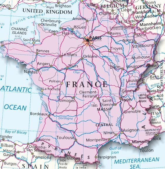 Immagini Della Cartina Della Francia.Mappa Francia Cartina Della Francia