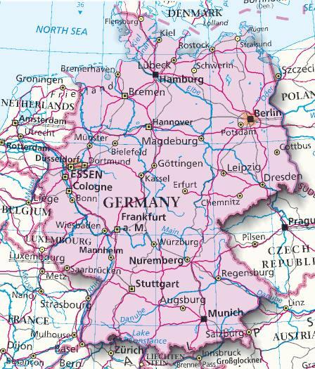 Dortmund Germania Cartina.Mappa Germania Cartina Della Germania