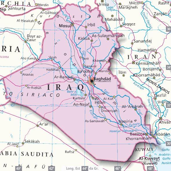 Cartina Iraq.Mappa Iraq Cartina Dell Iraq