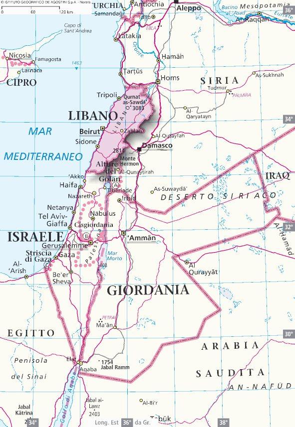 Cartina Del Libano.Mappa Libano Cartina Del Libano