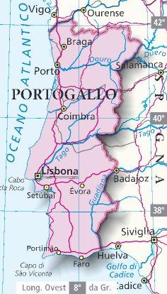 Cartina Di Portogallo.Mappa Portogallo Cartina Del Portogallo