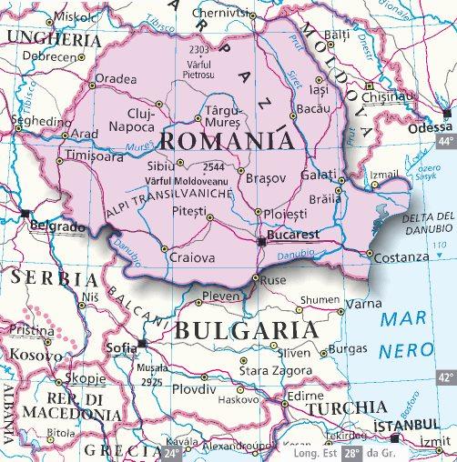 Cartina Stradale Della Romania.Romania Cartina